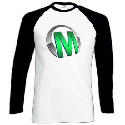 Motiv: Longsleeve Baseball T - Macho - Logo - Grün
