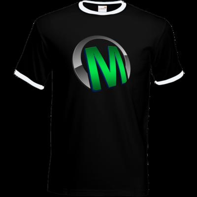 Motiv: T-Shirt Ringer - Macho - Logo - Grün