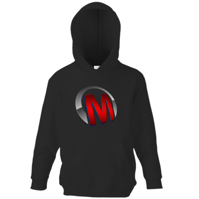 Motiv: Kids Hooded Sweat - Macho - Logo - Rot