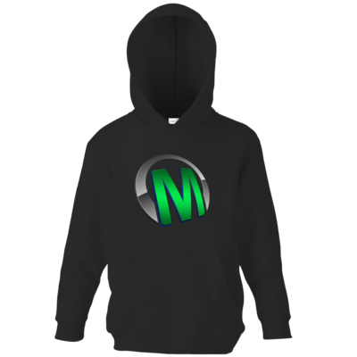 Motiv: Kids Hooded Sweat - Macho - Logo - Grün