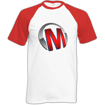 Motiv: Baseball-T FAIR WEAR - Macho - Logo - Rot