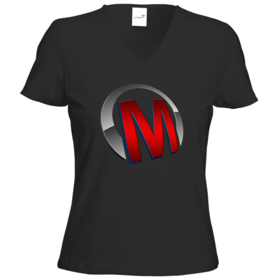 Motiv: T-Shirts Damen V-Neck FAIR WEAR - Macho - Logo - Rot