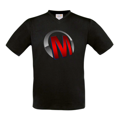 Motiv: T-Shirt V-Neck FAIR WEAR - Macho - Logo - Rot