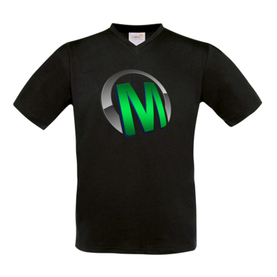 Motiv: T-Shirt V-Neck FAIR WEAR - Macho - Logo - Grün