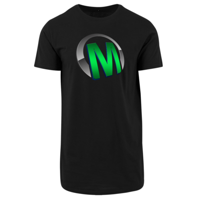 Motiv: Shaped Long Tee - Macho - Logo - Grün