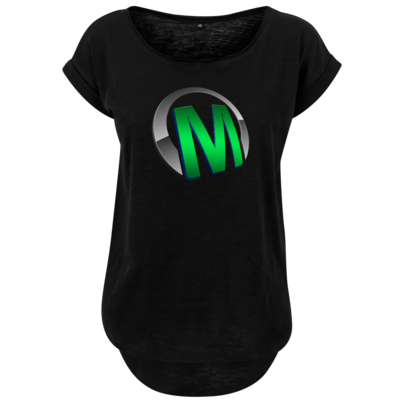 Motiv: Ladies Long Slub Tee - Macho - Logo - Grün