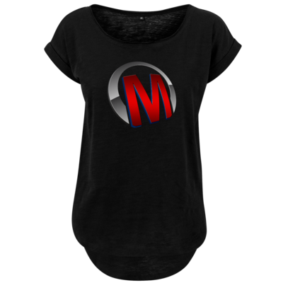 Motiv: Ladies Long Slub Tee - Macho - Logo - Rot