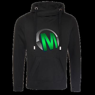 Motiv: Cross Neck Hoodie - Macho - Logo - Grün