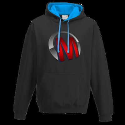 Motiv: Two-Tone Hoodie - Macho - Logo - Rot