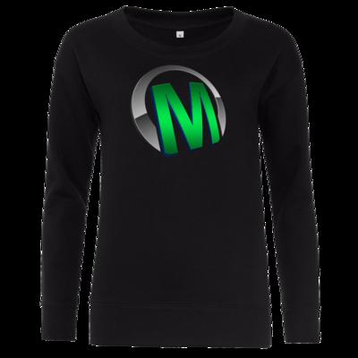 Motiv: Girlie Crew Sweatshirt - Macho - Logo - Grün