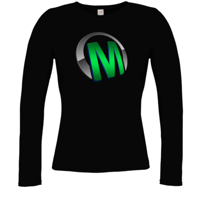 Motiv: Longsleeve Damen Organic - Macho - Logo - Grün