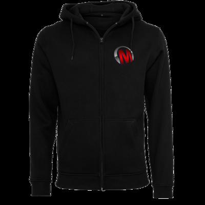 Motiv: Heavy Zip-Hoodie - Macho - Logo - Rot