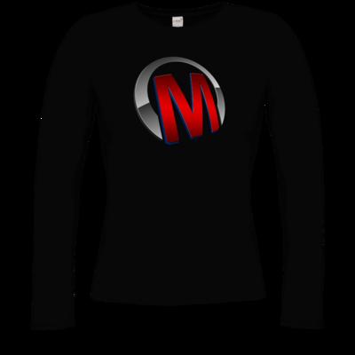 Motiv: Longsleeve Damen Organic - Macho - Logo - Rot