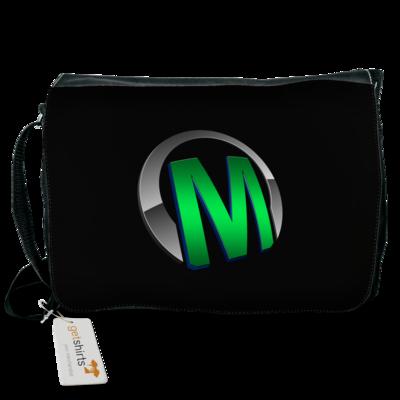 Motiv: Schultertasche - Macho - Logo - Grün