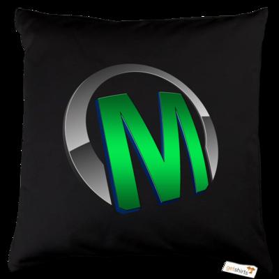 Motiv: Kissen Baumwolle - Macho - Logo - Grün