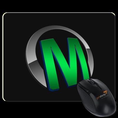 Motiv: Mousepad Textil - Macho - Logo - Grün