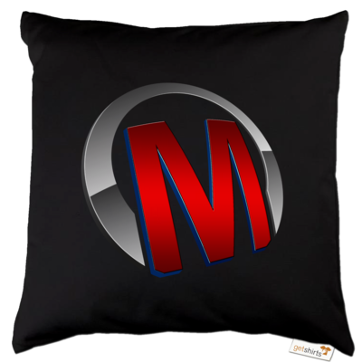 Motiv: Kissen Baumwolle - Macho - Logo - Rot