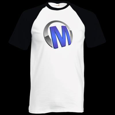 Motiv: TShirt Baseball - Macho - Logo - Blau