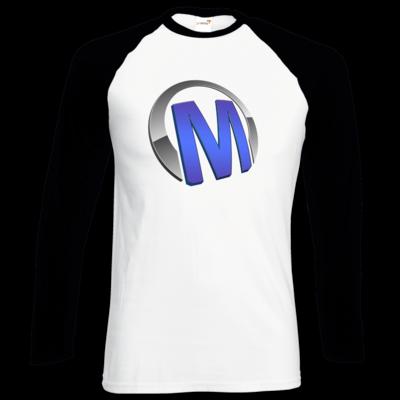 Motiv: Longsleeve Baseball T - Macho - Logo - Blau