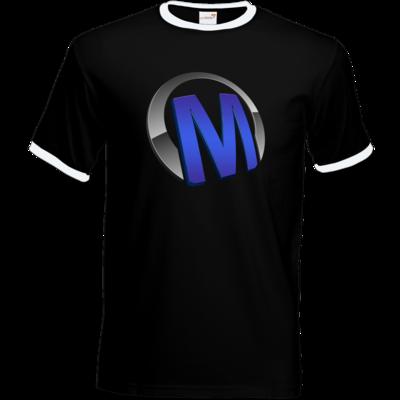 Motiv: T-Shirt Ringer - Macho - Logo - Blau