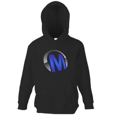 Motiv: Kids Hooded Sweat - Macho - Logo - Blau