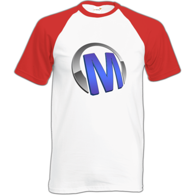 Motiv: Baseball-T FAIR WEAR - Macho - Logo - Blau