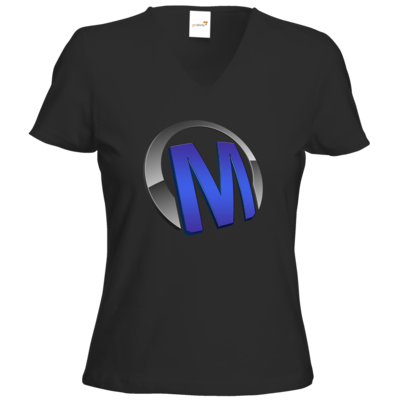 Motiv: T-Shirts Damen V-Neck FAIR WEAR - Macho - Logo - Blau