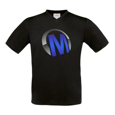 Motiv: T-Shirt V-Neck FAIR WEAR - Macho - Logo - Blau