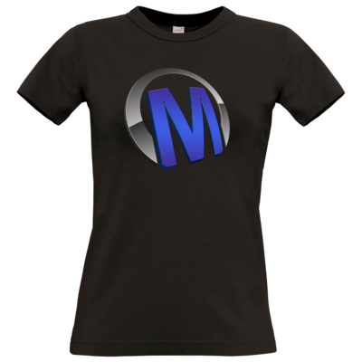 Motiv: T-Shirt Damen Premium FAIR WEAR - Macho - Logo - Blau
