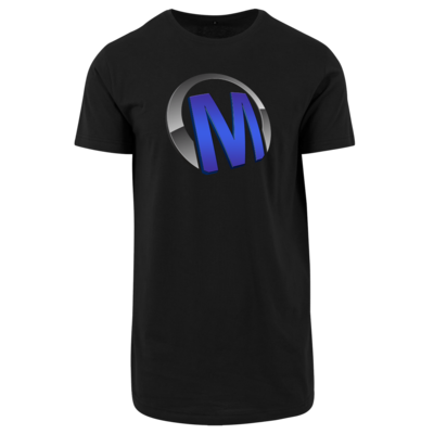 Motiv: Shaped Long Tee - Macho - Logo - Blau