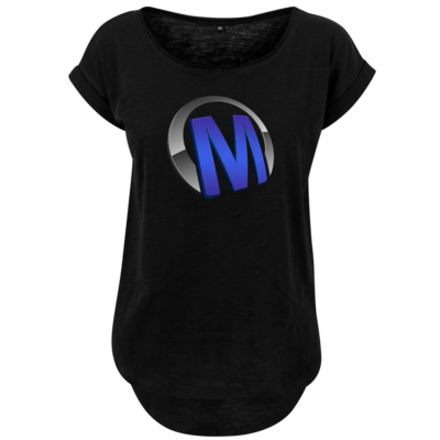 Motiv: Ladies Long Slub Tee - Macho - Logo - Blau