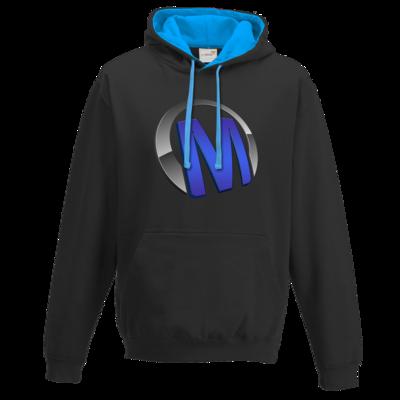 Motiv: Two-Tone Hoodie - Macho - Logo - Blau