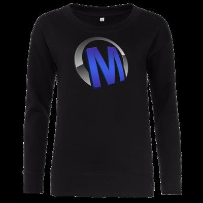Motiv: Girlie Crew Sweatshirt - Macho - Logo - Blau
