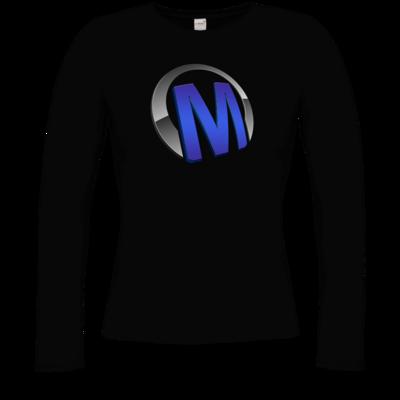 Motiv: Longsleeve Damen Organic - Macho - Logo - Blau