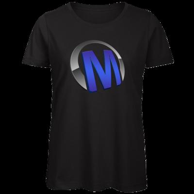 Motiv: Organic Lady T-Shirt - Macho - Logo - Blau