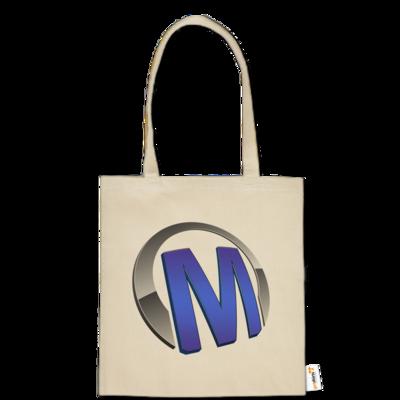 Motiv: Baumwolltasche - Macho - Logo - Blau