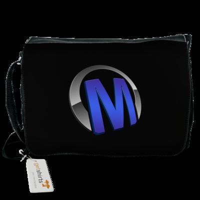Motiv: Schultertasche - Macho - Logo - Blau