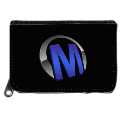 Motiv: Geldboerse - Macho - Logo - Blau