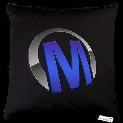 Motiv: Kissen Baumwolle - Macho - Logo - Blau