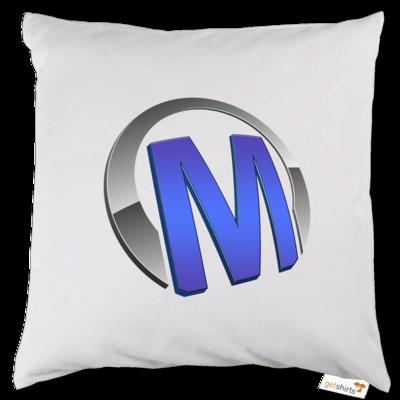 Motiv: Kissen - Macho - Logo - Blau