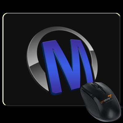 Motiv: Mousepad Textil - Macho - Logo - Blau