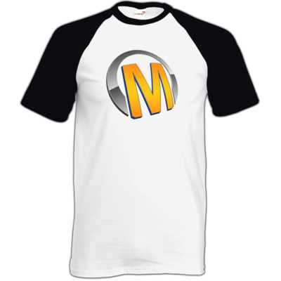 Motiv: TShirt Baseball - Macho - Logo - Orange