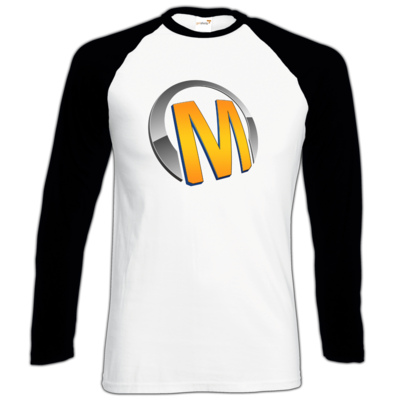 Motiv: Longsleeve Baseball T - Macho - Logo - Orange