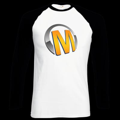 Motiv: Longsleeve Baseball T - Macho - Logo - Orange
