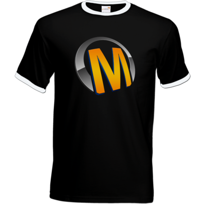 Motiv: T-Shirt Ringer - Macho - Logo - Orange