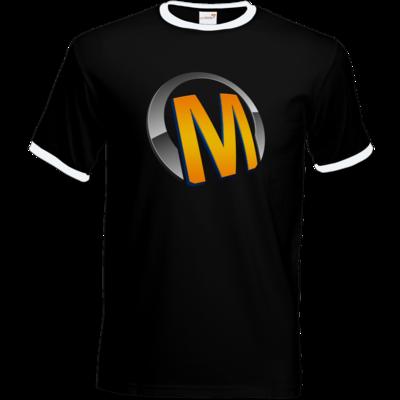 Motiv: T-Shirt Ringer - Macho - Logo - Orange