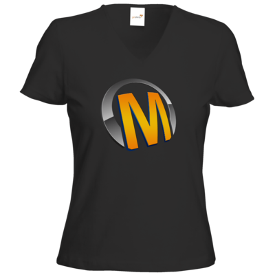 Motiv: T-Shirt Damen V-Neck Classic - Macho - Logo - Orange