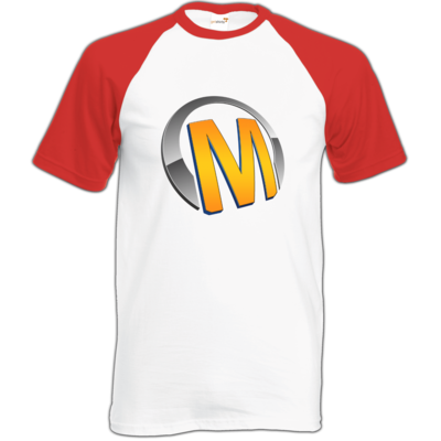 Motiv: Baseball-T FAIR WEAR - Macho - Logo - Orange