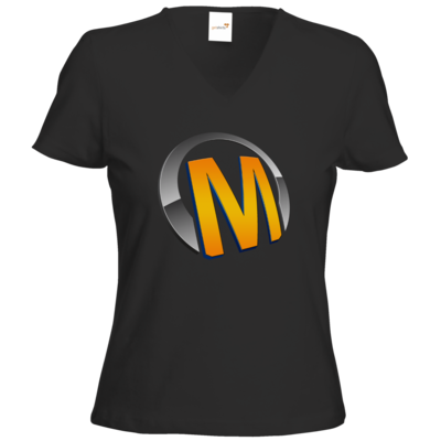 Motiv: T-Shirts Damen V-Neck FAIR WEAR - Macho - Logo - Orange