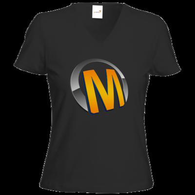 Motiv: T-Shirts Damen V-Neck FAIR WEAR - Macho - Logo - Orange